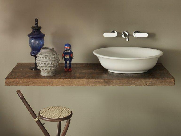 Plan De Toilette En Bois Massif Solid - Ceramica Flaminia pour Plan De Toilette Bois