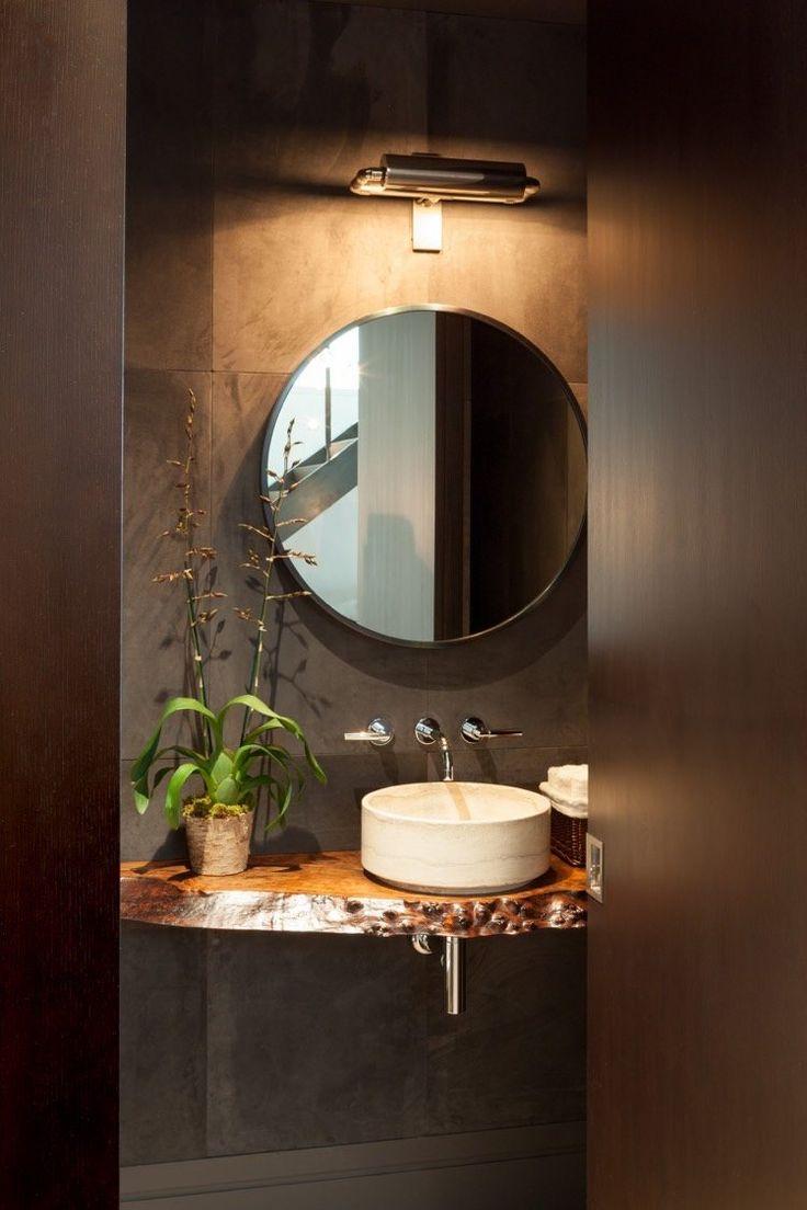 Plan Vasque Bois Brut Dans La Salle De Toilette – Osez Le à Plan De Toilette Bois