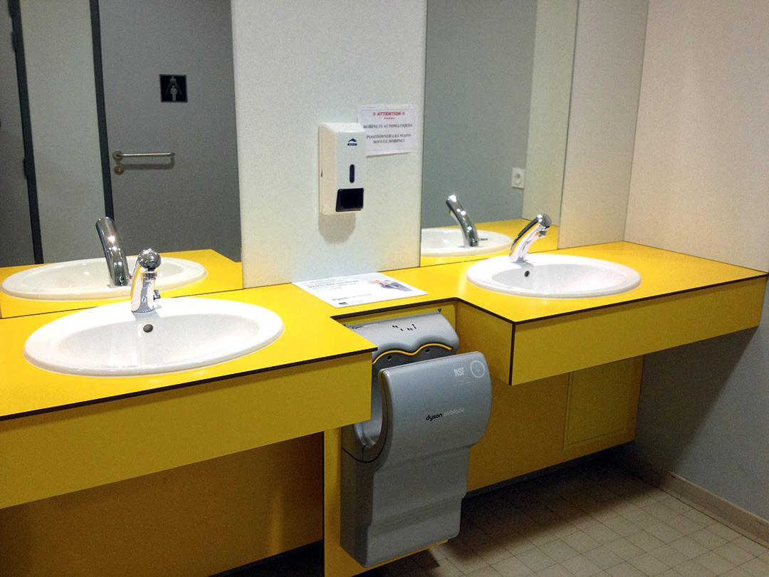 Plans De Toilette Droits - Ldm Équipement concernant Plan De Toilette Sur Mesure