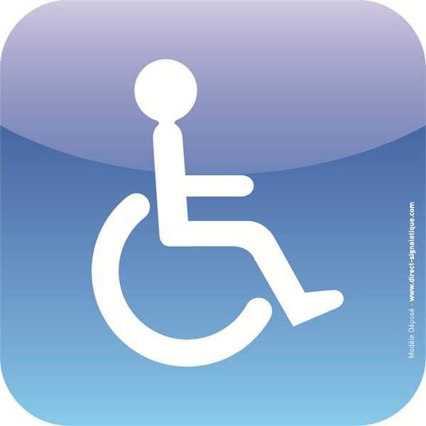 Plaque De Porte Toilettes Handicapé Icone tout Toilettes Handicapés