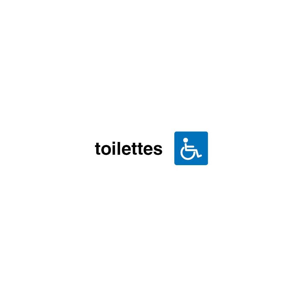 Plaque De Porte Toilettes Handicapés serapportantà Toilettes Handicapés