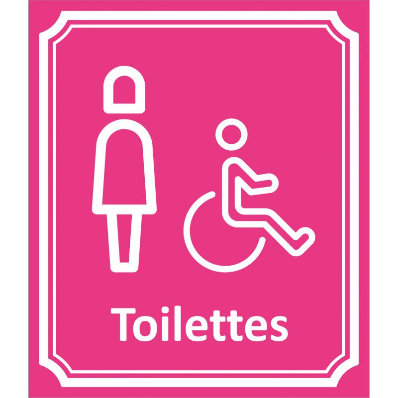 """Plaque """" Toilettes Femme, Handicapé"""" En Alu Type Côté Rue serapportantà Toilettes Handicapés"""
