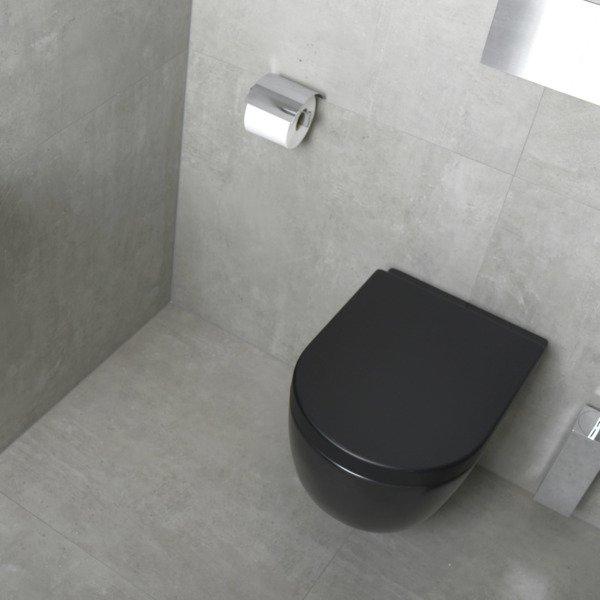 Plieger Nola Pack Wc Suspendu Sans Bride Noir Mat Avec pour Toilette Suspendu Grohe