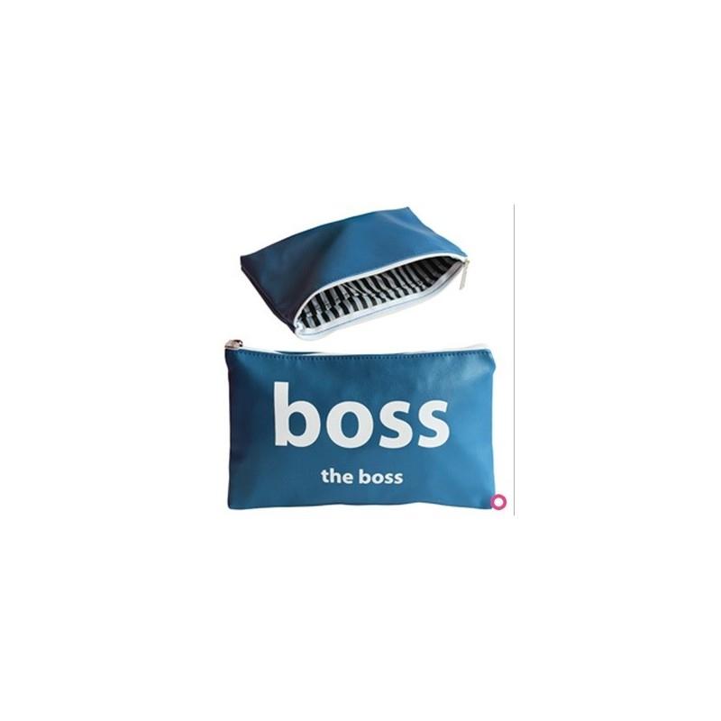 Pochette The Boss 21X13Cm - Trousse Mode Garcon Pas Cher encequiconcerne Trousse De Toilette Garcon