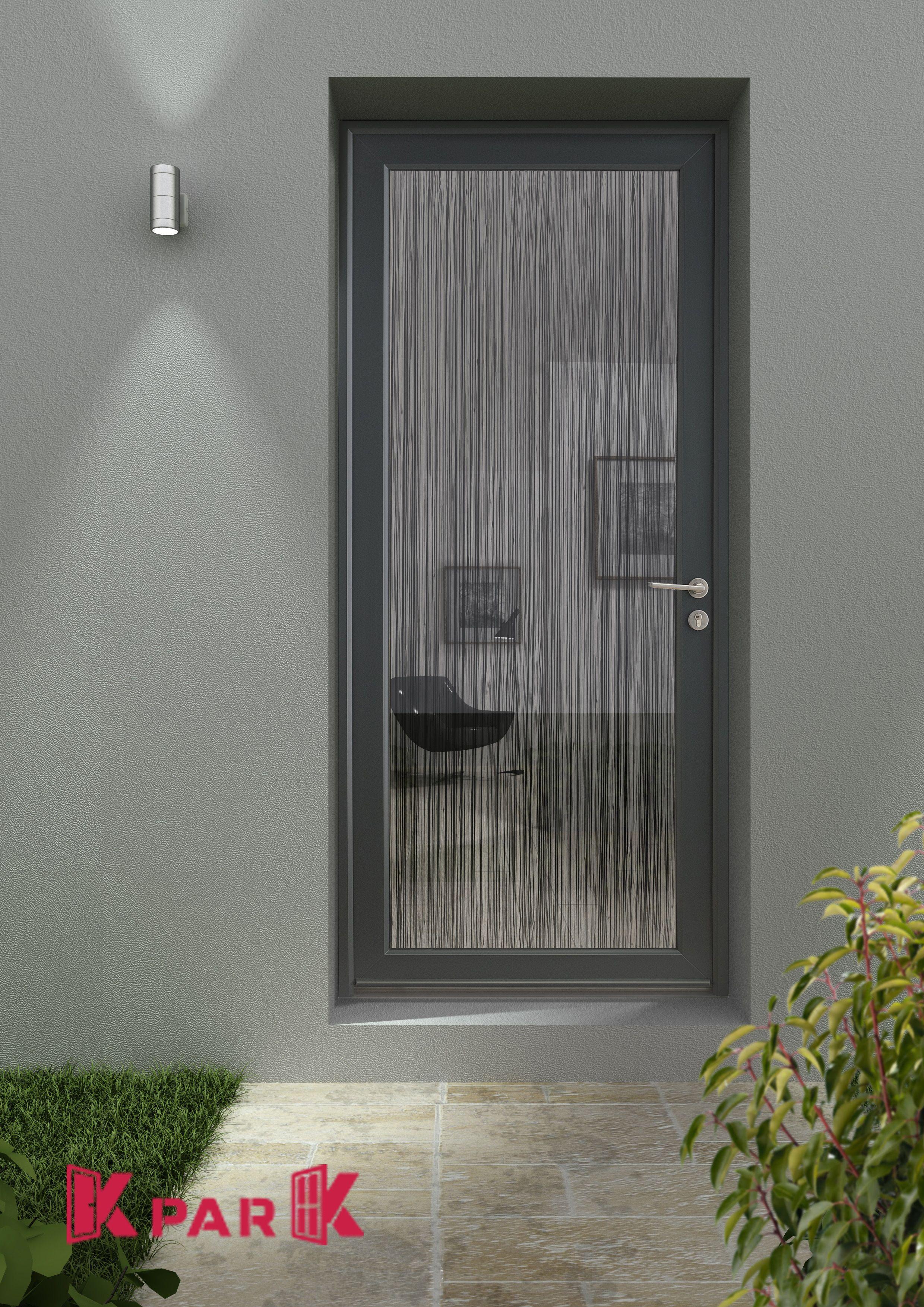 Porte D'Entré Pvc Vitrée, Gamme De Créateur, Modèle Rideau pour Rideau De Porte Chainette Aluminium