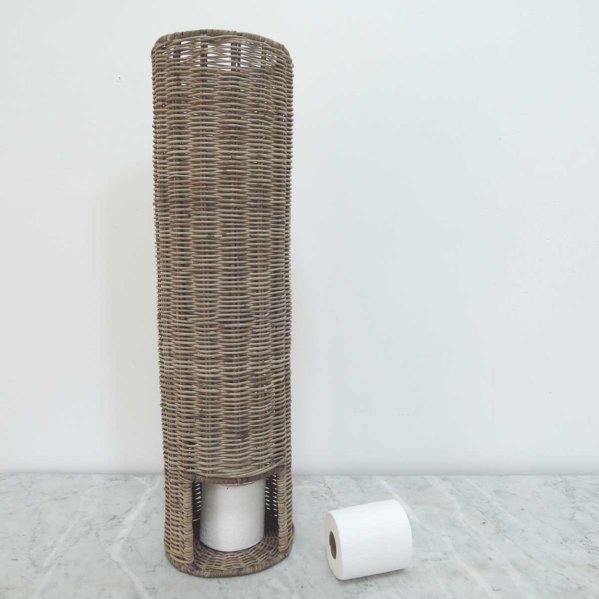 Porte Papier Toilette En Rotin Naturel Tressé Country avec Porte Papier Toilette Original