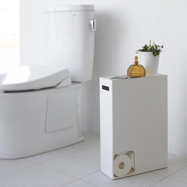 Porte Papier Toilette Yamazaki - Accessoires Wc Blanc tout Porte Papier Toilette Original