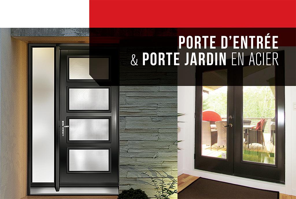 Portes D'Acier - Futura Portes Et Fenêtres serapportantà Rideau De Porte D Entrée Exterieure