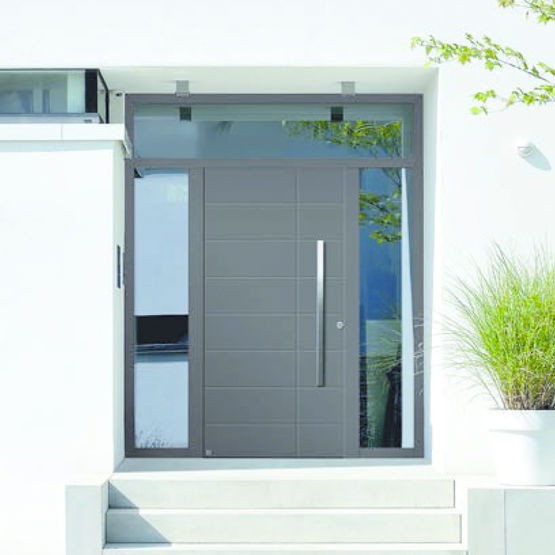 Portes D'Entrée En Aluminium À Isolation Thermique Élevée dedans Rideau Isolant Thermique Porte D Entrée