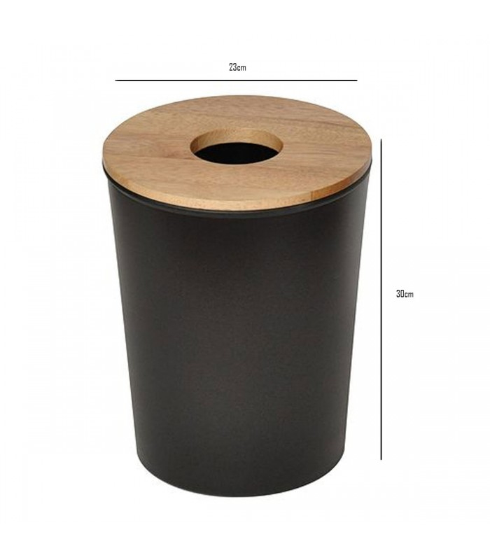 Poubelle De Salle De Bain / Wc En Plastique Noir Et pour Poubelle Toilette