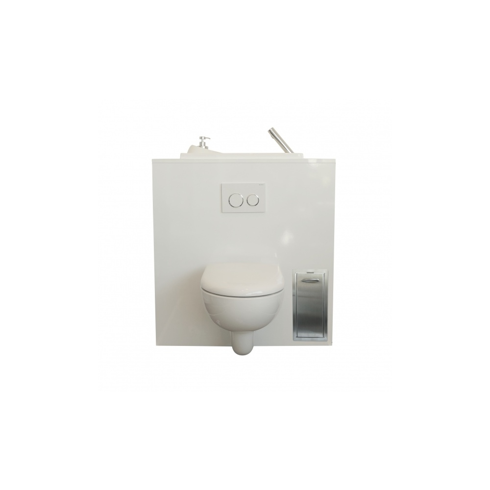 Poubelle Encastrée Pour Wc Suspendu En Inox Brossé | Wici pour Poubelle Toilette