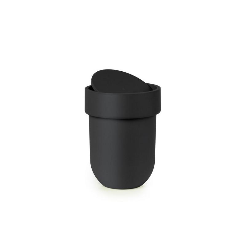 Poubelle Salle De Bains Noire Design Umbra Touch 023269-040 tout Poubelle Toilette