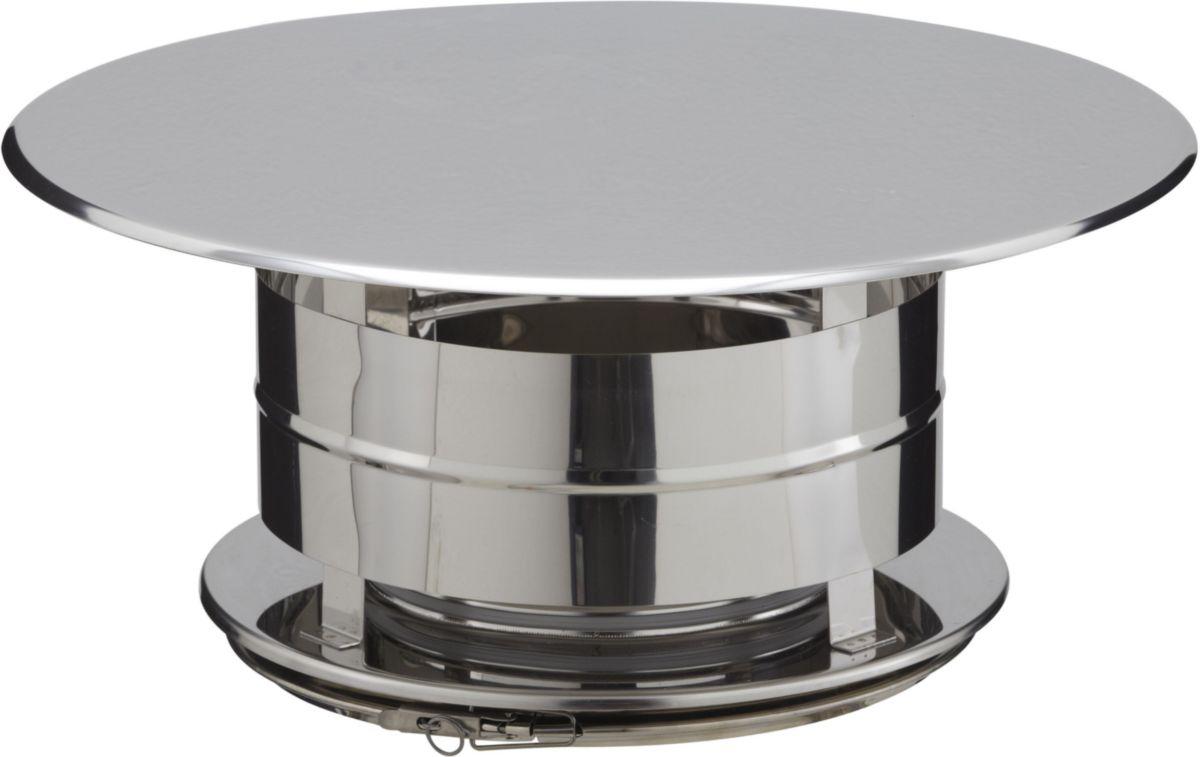 Poujoulat - Chapeau Aspirateur Inox/Inox Pour Conduit De concernant Chapeau Cheminée Inox