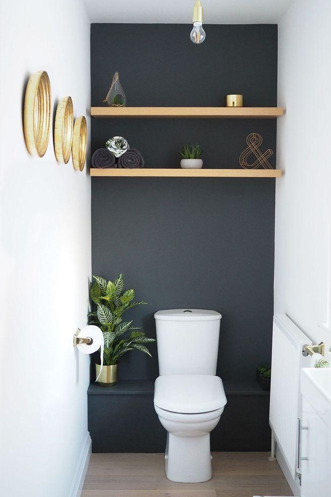 Rangement Wc : Idées Pratiques Pour Toilettes   Toilettes avec Toilette Sous Escalier