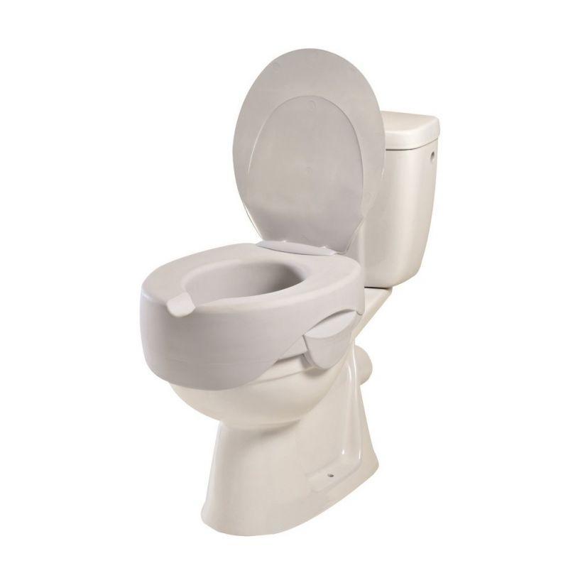 Rehausse-Wc Rehosoft Avec Couvercle - Sanetis à Toilette Rehausse