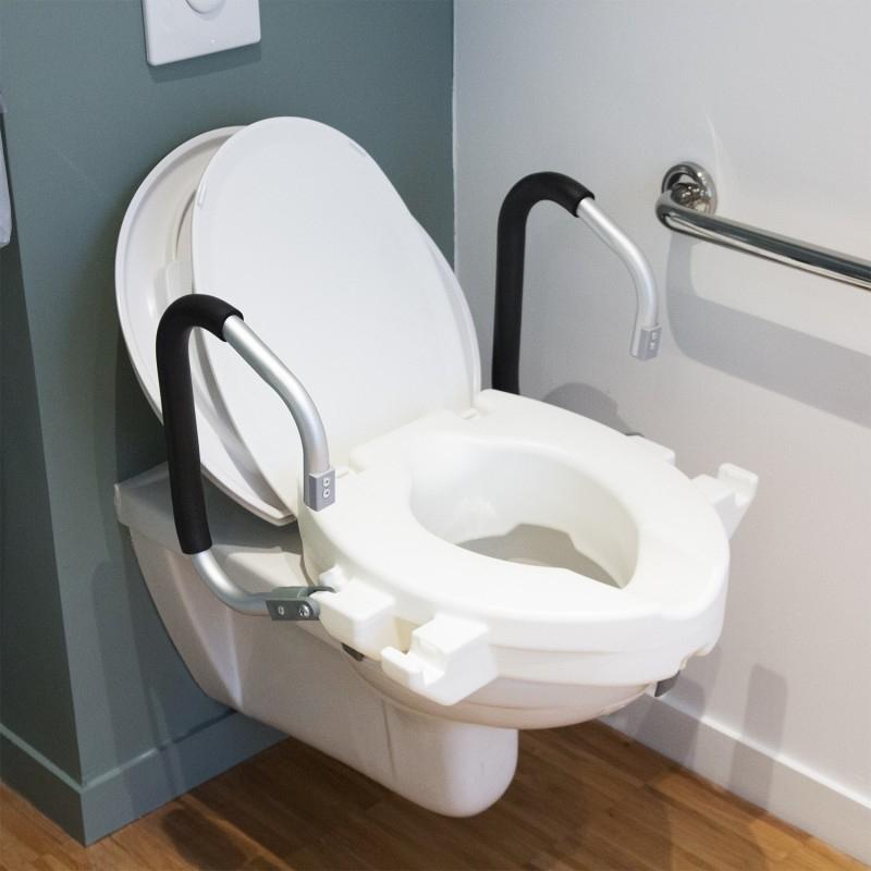 Rehausseur De Wc Avec Accoudoirs Relevables tout Réhausseur De Toilette Pour Adulte
