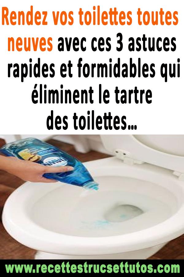 Rendez Vos Toilettes Toutes Neuves Avec Ces 3 Astuces destiné Tartre Toilette