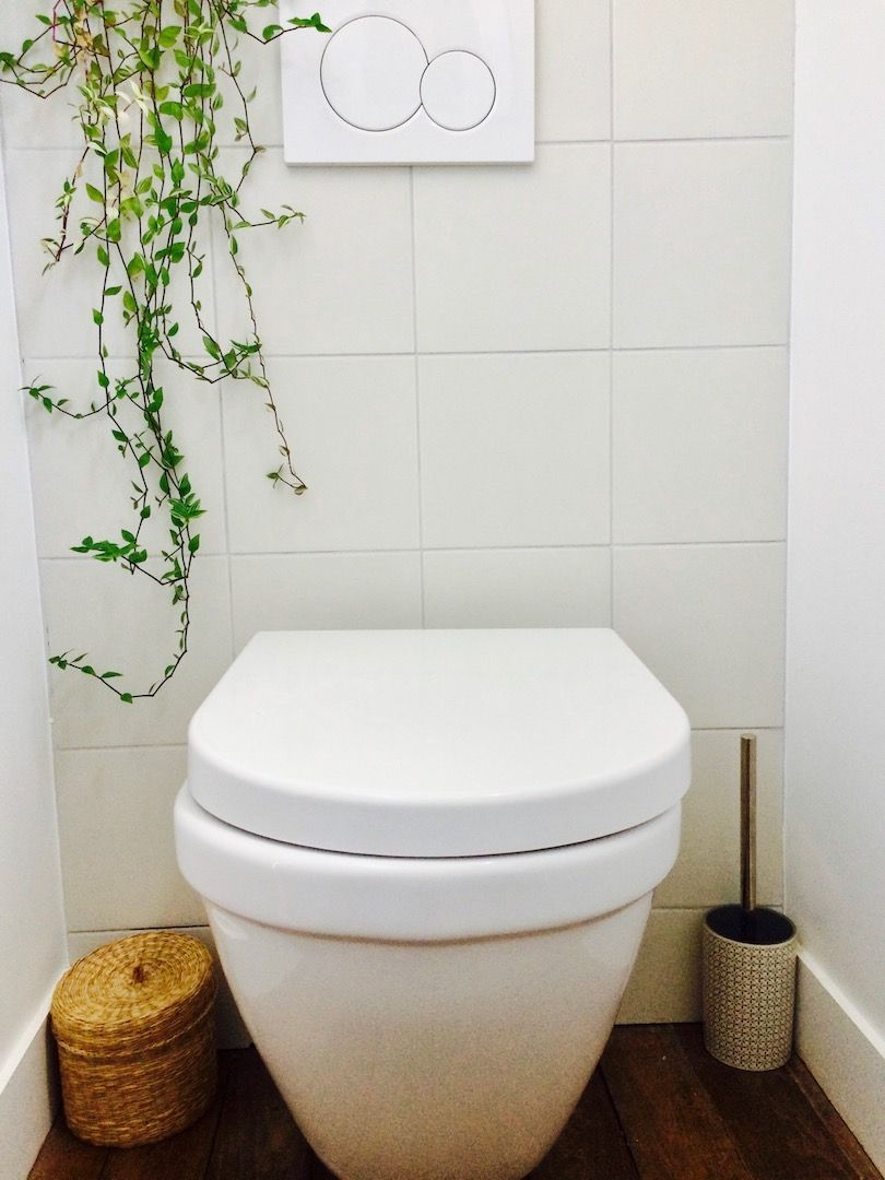 Rénovation Toilettes, Wc Suspendus, Parquet, Plantes encequiconcerne Toilette Seche Interieur Maison
