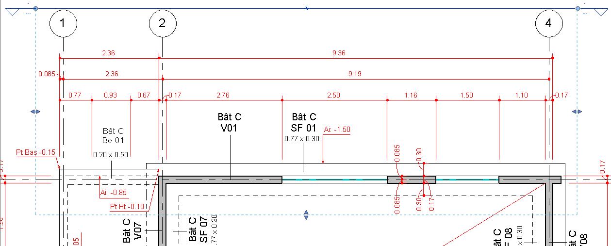 Revit-Mémo: Revit 2014_Structure_Comparatif Revit avec Rideau Dwg