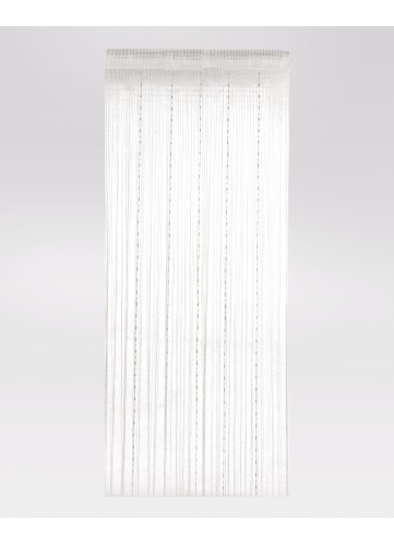 Rideau 90 Blanc encequiconcerne Rideau Fil Blanc