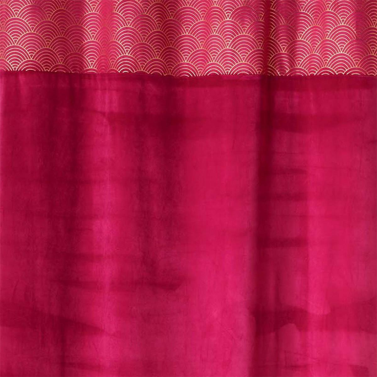 Rideau À Oeillets 140X240 Cm Duchesse Framboise - Les destiné Rideau Framboise