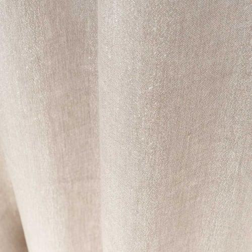 Rideau À Œillets En Coton Et Lin Beige À L'Unité 140X250 pour Rideau En Lin Beige