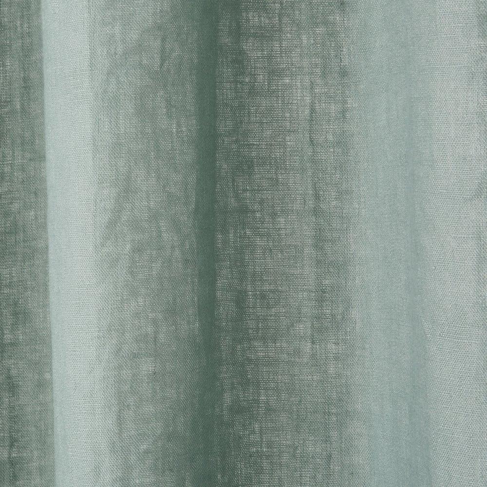 Rideau À Œillets En Lin Lavé Vert De Gris 130X300 intérieur Rideau En Lin Gris