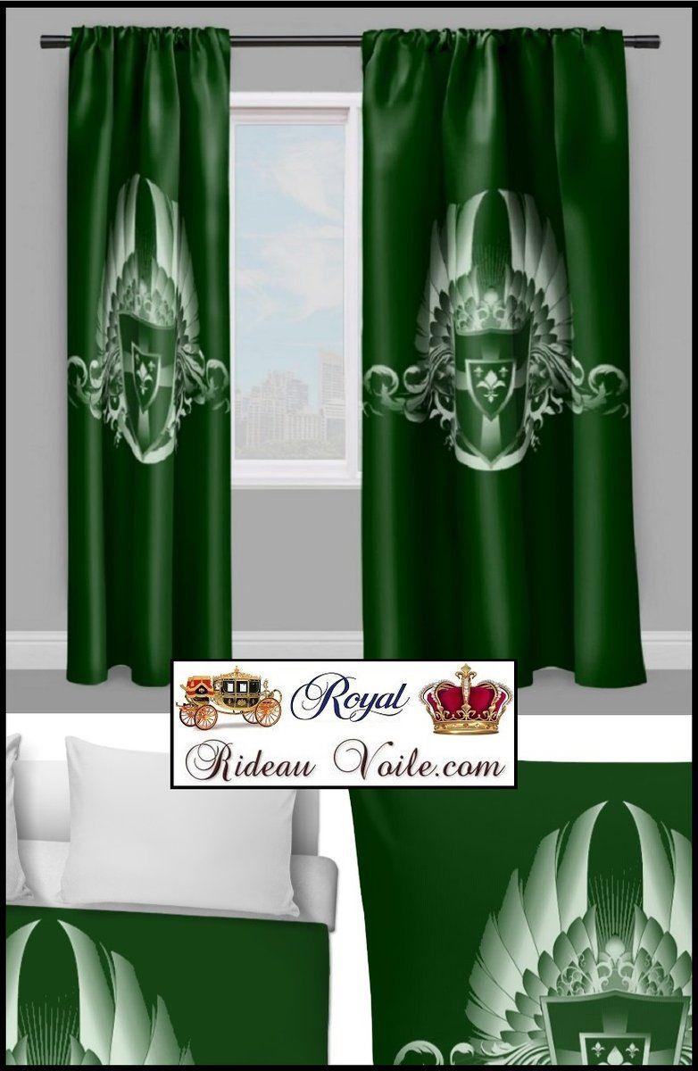 Rideau Armoiries Héraldique Beaux Tissus Au Mètre Palace encequiconcerne Rideau Doublé Polaire