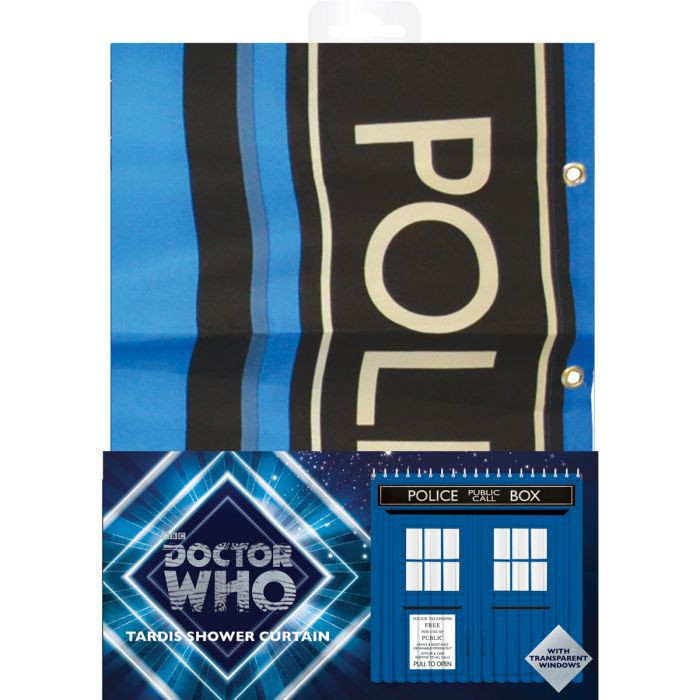 Rideau De Douche Tardis Doctor Who pour Rideau Geek