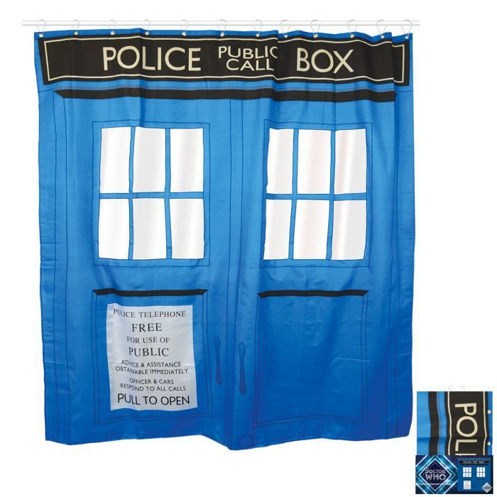 Rideau De Douche Tardis Doctor Who | Rideau Douche tout Rideau Geek