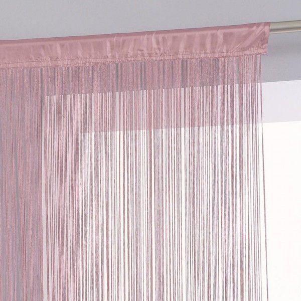 Rideau De Fil (120 X 240 Cm) Rose Pâle - Rideau / Voilage pour Rideau Fil Blanc