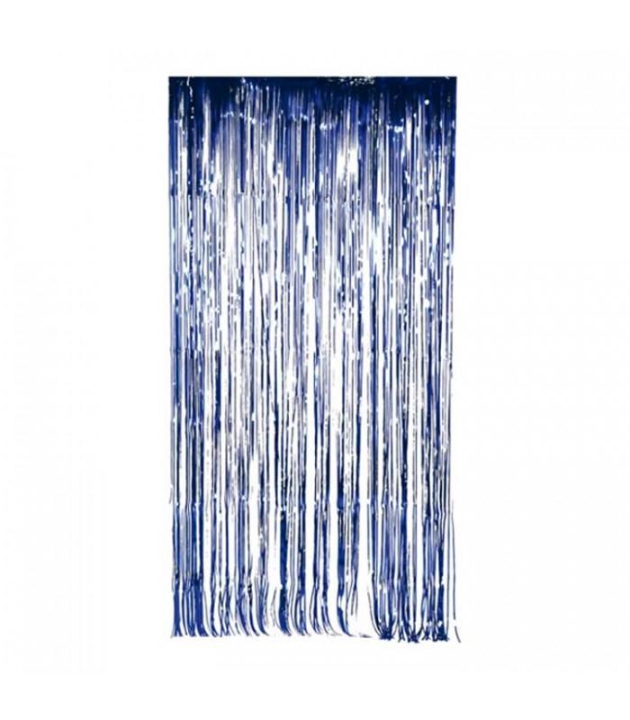 Rideau De Fil Fabriqué En Feuille Métallique Couleur Bleu avec Rideau En Fil