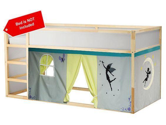 Rideau De Lit Thème Fées (Avec Images)   Rideaux De Lit destiné Rideau De Porte Ikea