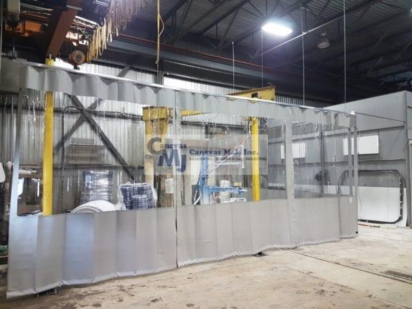 Rideau De Plastique Industriel - Rideaux Séparateurs concernant Rideau Plastique Industriel