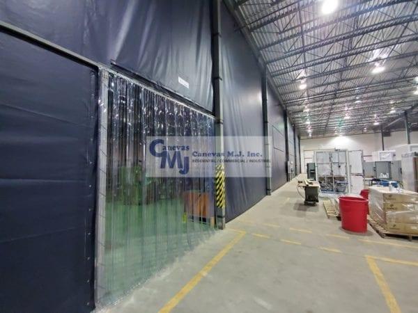 Rideau De Plastique Industriel - Rideaux Séparateurs destiné Rideau Plastique Industriel