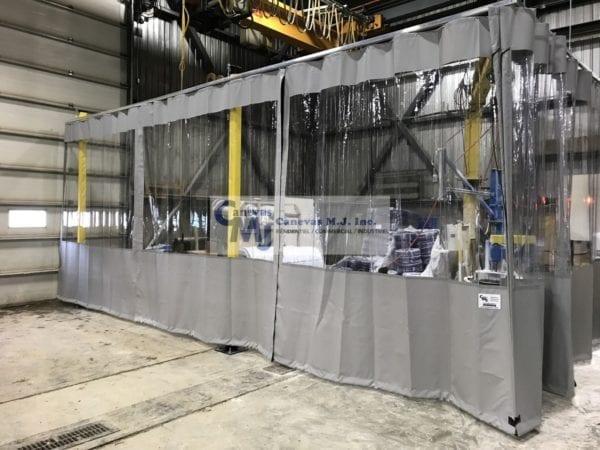 Rideau De Plastique Industriel - Rideaux Séparateurs encequiconcerne Rideau Plastique Industriel
