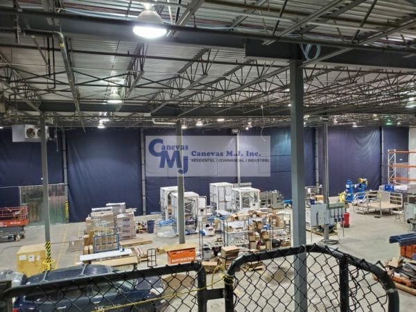Rideau De Plastique Industriel - Rideaux Séparateurs intérieur Rideau Plastique Industriel