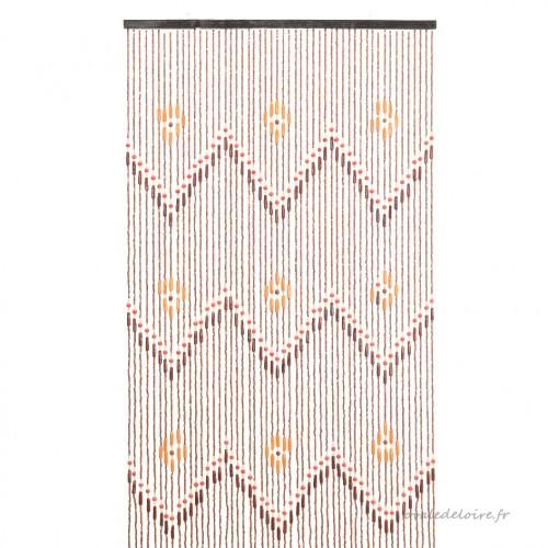 Rideau De Porte (90 X 200 Cm) Perles Migina Marron tout Rideau Hauteur 200