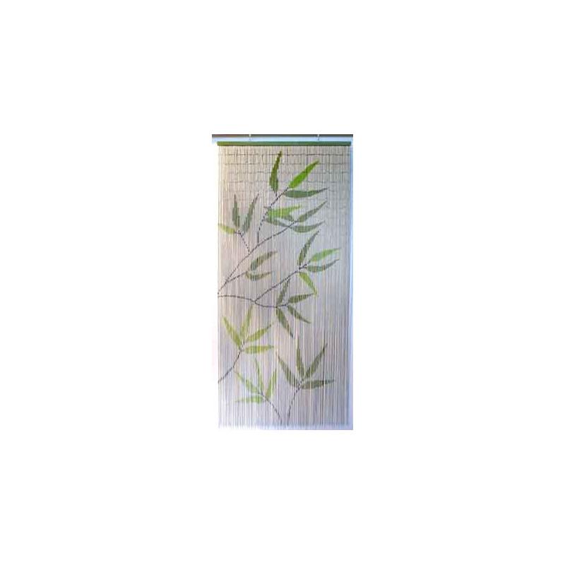 Rideau De Porte 90X200Cm Sticks Bambou - Feuille Bambou dedans Rideau De Porte Bambou
