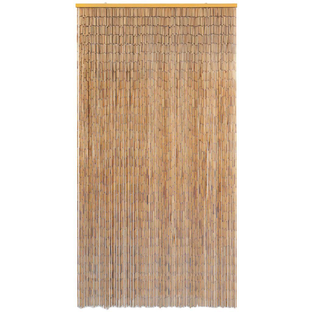 Rideau De Porte Contre Insectes Bambou 120 X 220 Cm - 43724 concernant Rideau Hauteur 220