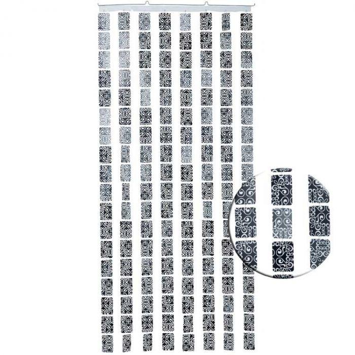 Rideau De Porte Deco Arabesques, 90 X 200 Cm   Marketonweb pour Rideau Hauteur 200
