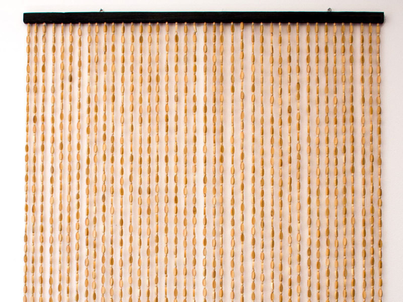Rideau De Porte En Bambou Et Perle De Bois - Jardideco avec Rideau En Perle