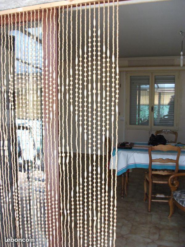 Rideau De Porte En Perles E Bois X 2 | Rideau De Porte à Rideau De Perles De Bois Provençaux