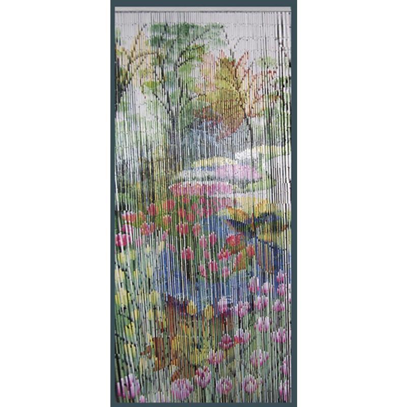 Rideau De Porte Fleurs En Bambou - Nri1810 | Aubry-Gaspard pour Rideau De Porte Bambou