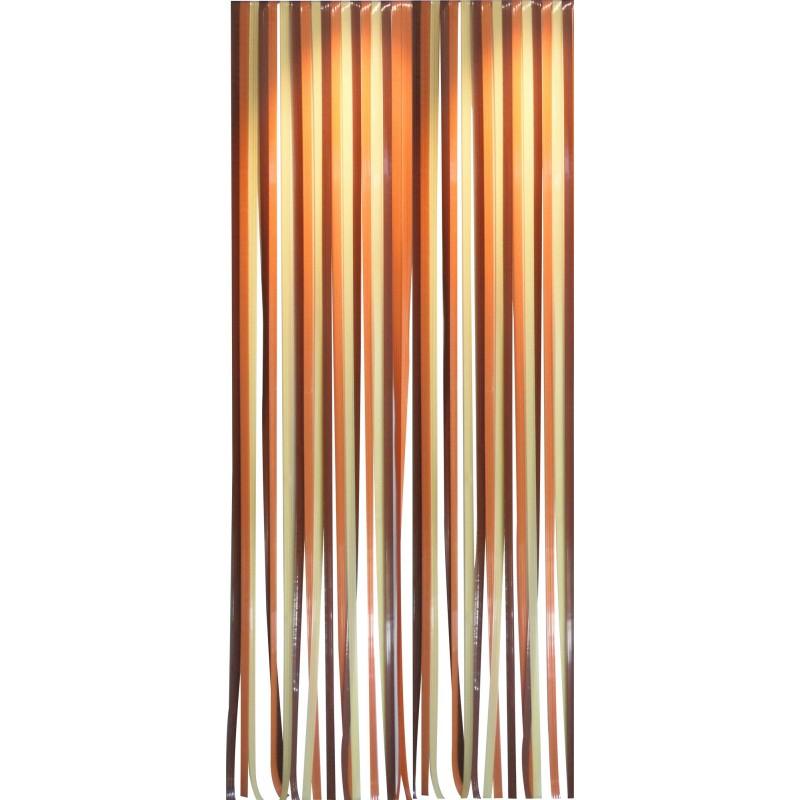 Rideau De Porte - Lanière Antilles Morel - 120 X 220 Cm à Rideau Exterieur Plastique