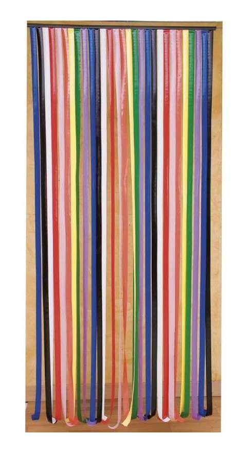 Rideau De Porte Lanières Plastique Multicolore - 4707 à Rideau De Porte Chainette Aluminium