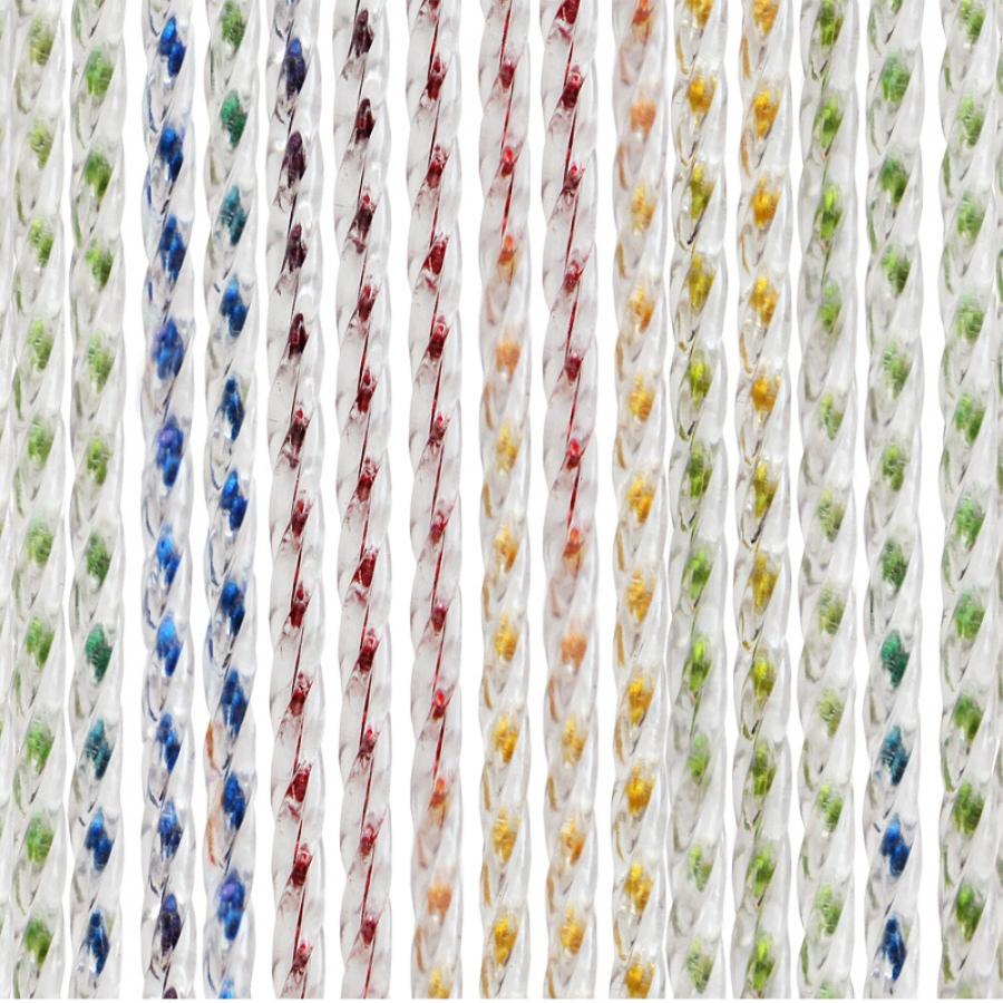 Rideau De Porte Multicolore, Achat/Vente Sur Rideau-Porte.fr tout Rideau De Porte Chainette Aluminium