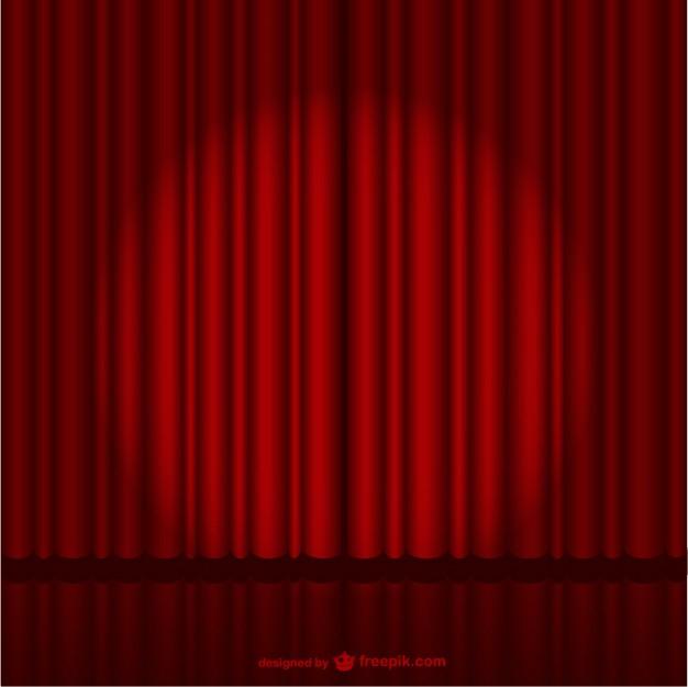 Rideau De Scène Rouge Foncé | Télécharger Des Vecteurs à Rideau De Scene
