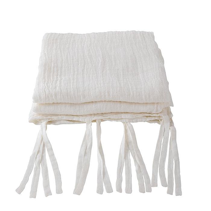 Rideau En 100%Lin Gaze Couleur Creme Avec Lacets 150 X 280 Cm dedans Rideau Gaze De Lin