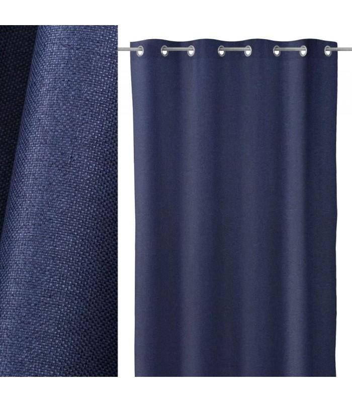 Rideau Épais Occultant À Oeillets Bleu Foncé - Longueur 260Cm pour Rideau Epais